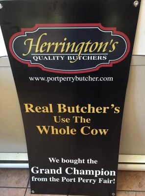 Real Butcher's Use the Real Cow Sign