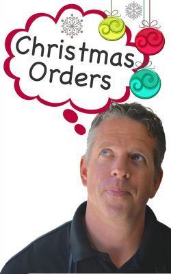 Brent thinking about Christmas Orders