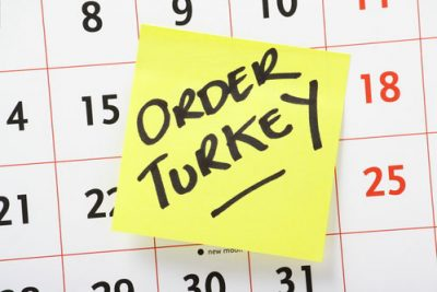 Order Turkey sticky on calendar