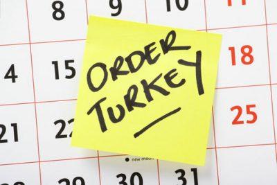 Order Turkey sticky on calendar
