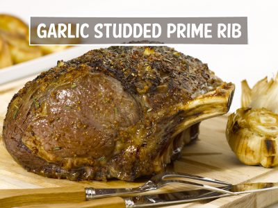 Garlic Studded Prime Rib
