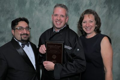 Brent accepting Ontario's Finest Butcher award