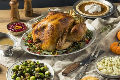 Thanksgiving Turkey dinner with sides