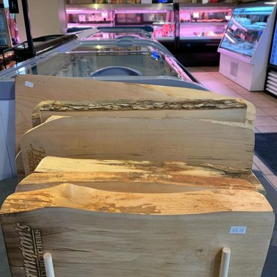charcuterie boards lined up