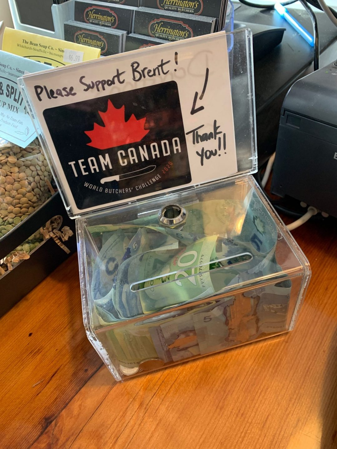 Team Canada Donation box