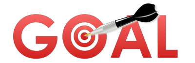 """Goal achieved with dart in the bullseye of the """"o"""""""