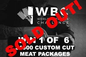 WBC Raffle to win meat packages sold out